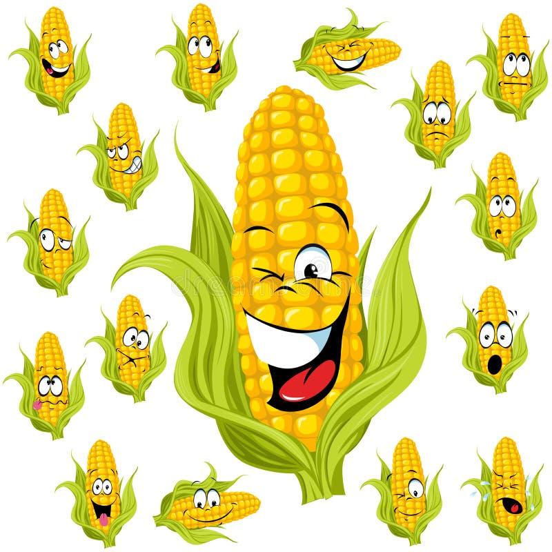 Historieta del maíz dulce stock de ilustración