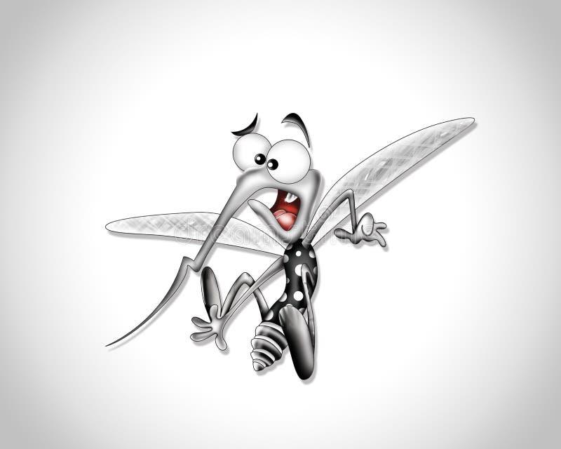 Historieta del mosquito ilustración del vector