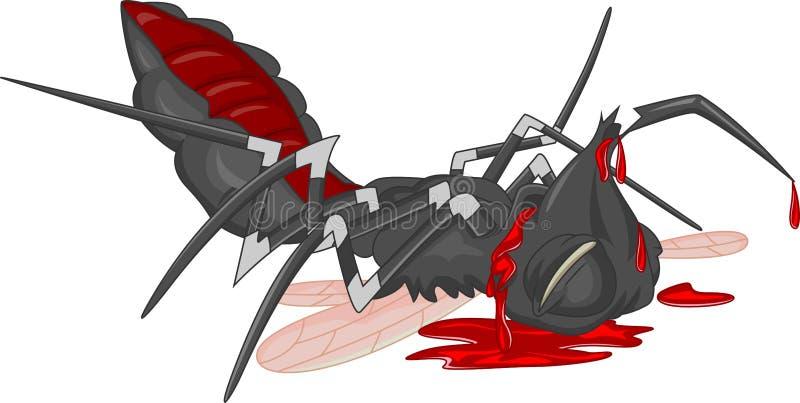Historieta del mosquito stock de ilustración
