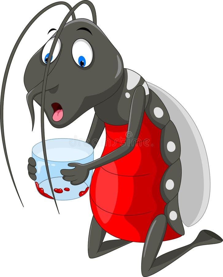 Historieta del mosquito Mosquitos sanguinarios Divertido y adorable libre illustration