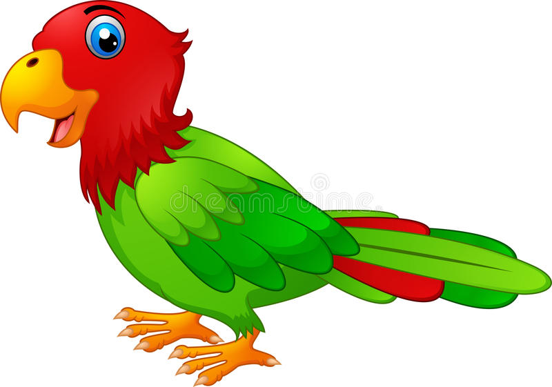Historieta del pájaro del Macaw ilustración del vector