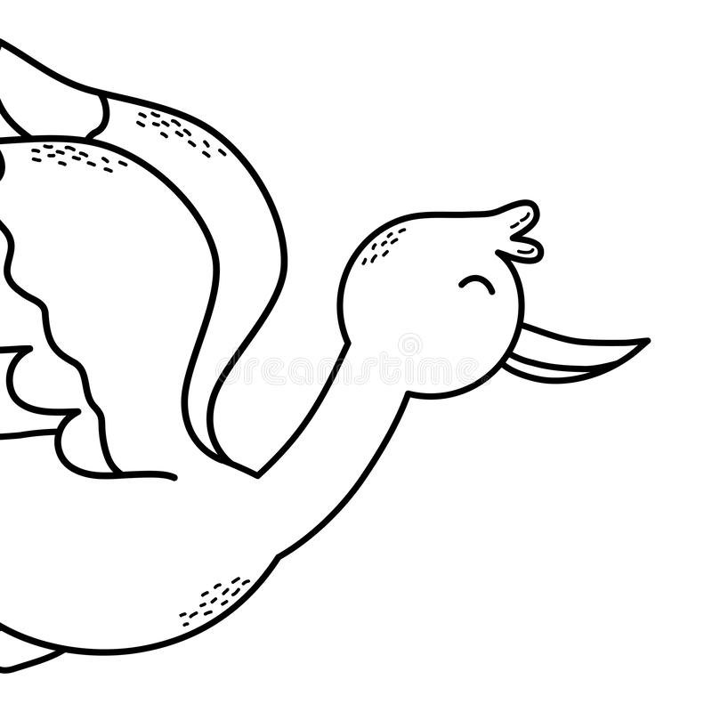 Historieta del p?jaro de la cig?e?a ilustración del vector