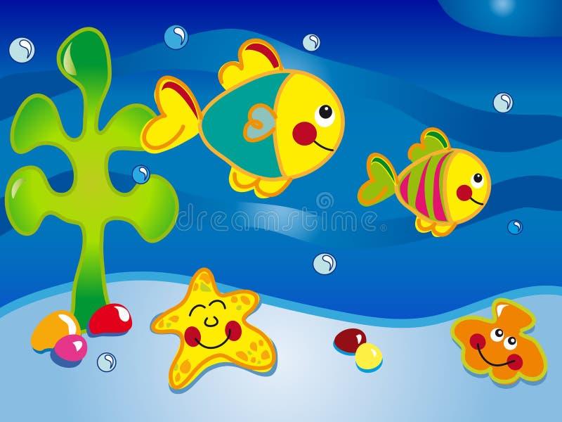 Historieta del paisaje marino libre illustration