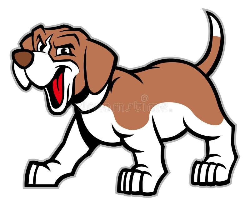 Historieta del perro del beagle ilustración del vector