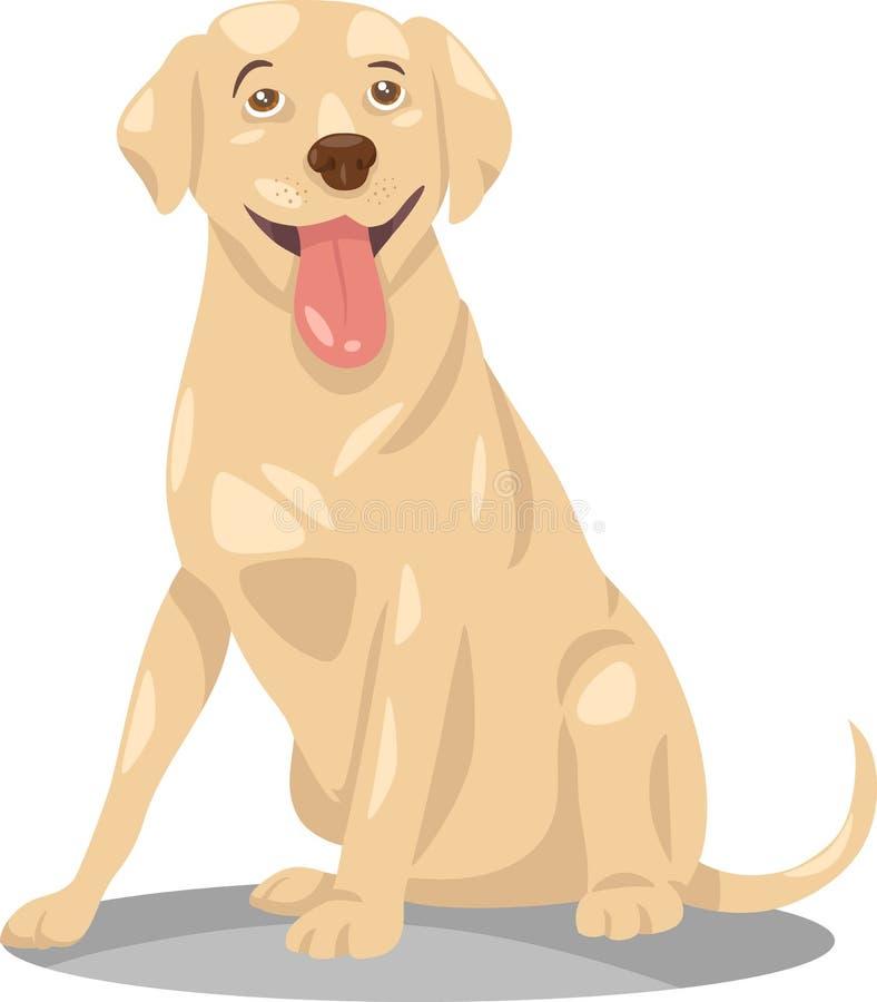 Historieta del perro del labrador retriever ilustración del vector