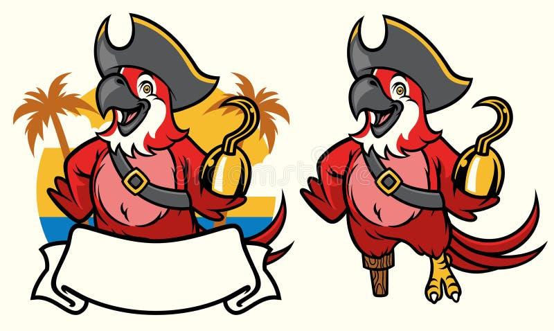 Historieta del pirata del pájaro del Macaw libre illustration