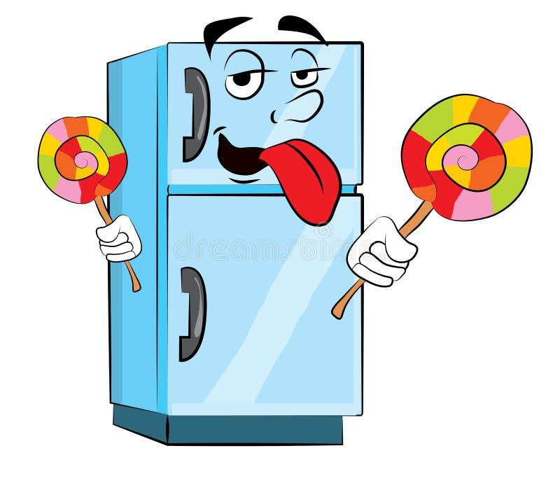 Historieta del refrigerador stock de ilustración