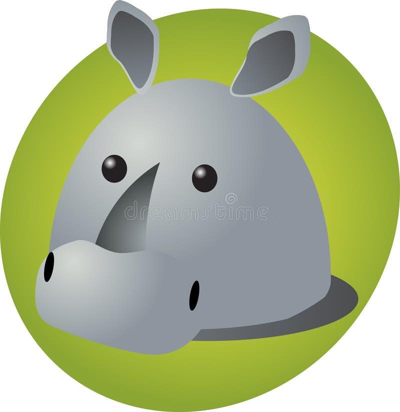 Historieta del rinoceronte ilustración del vector