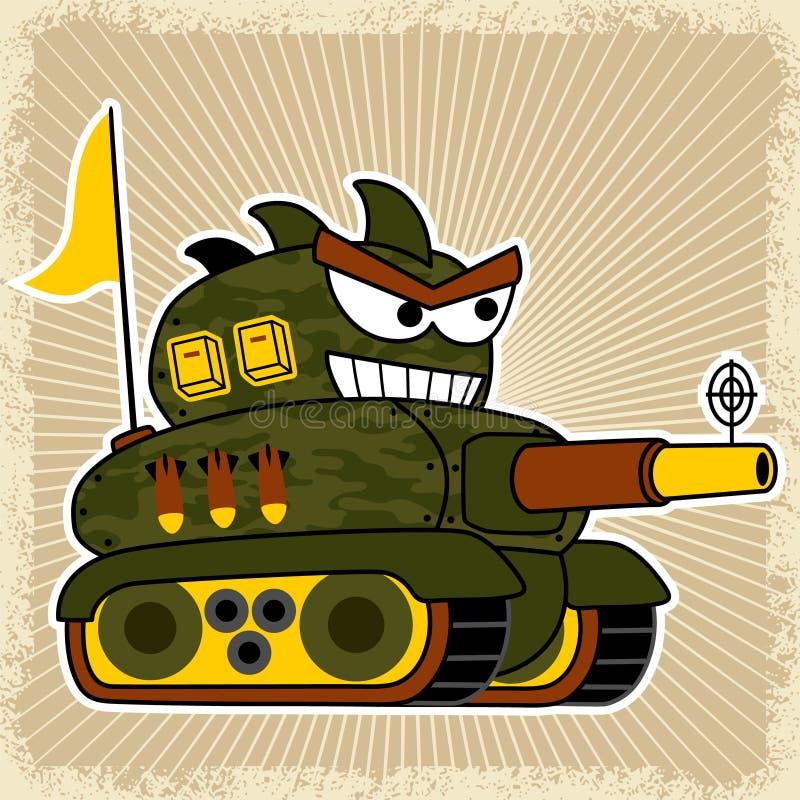 Historieta del robot del tanque con el cañón grande libre illustration