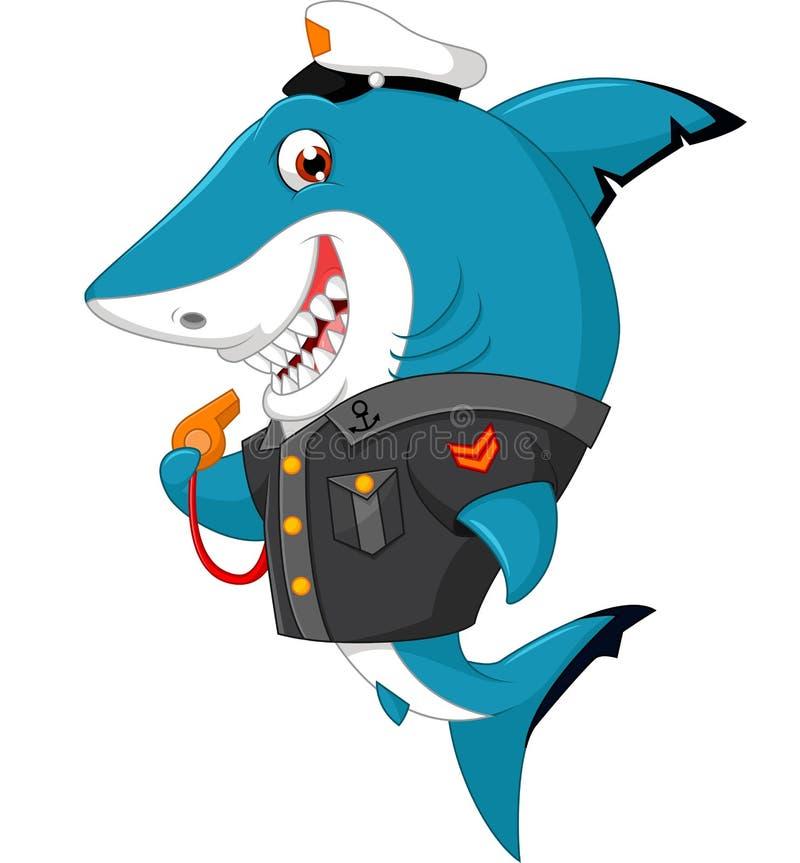 Historieta del tiburón ilustración del vector