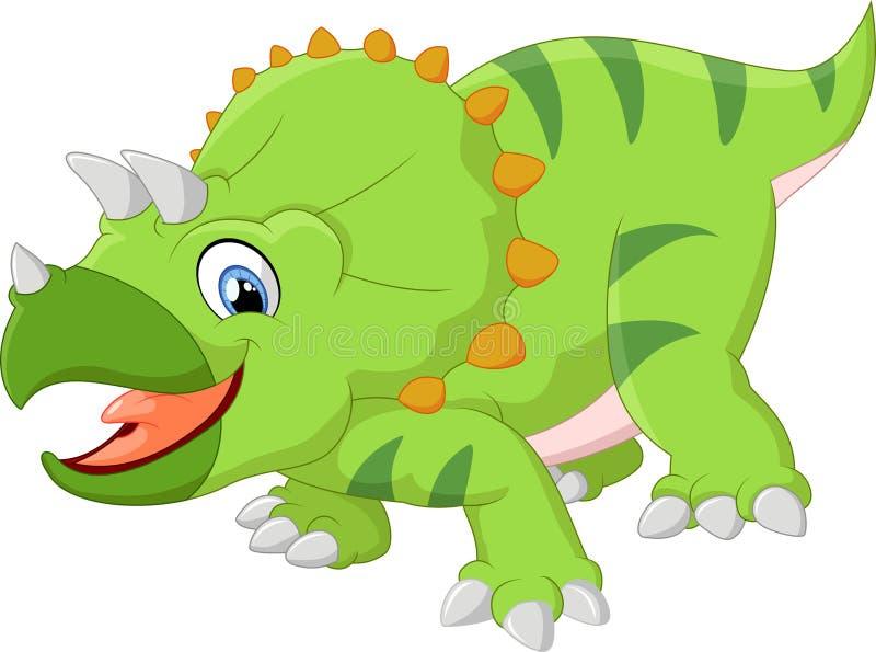 Historieta del Triceratops stock de ilustración