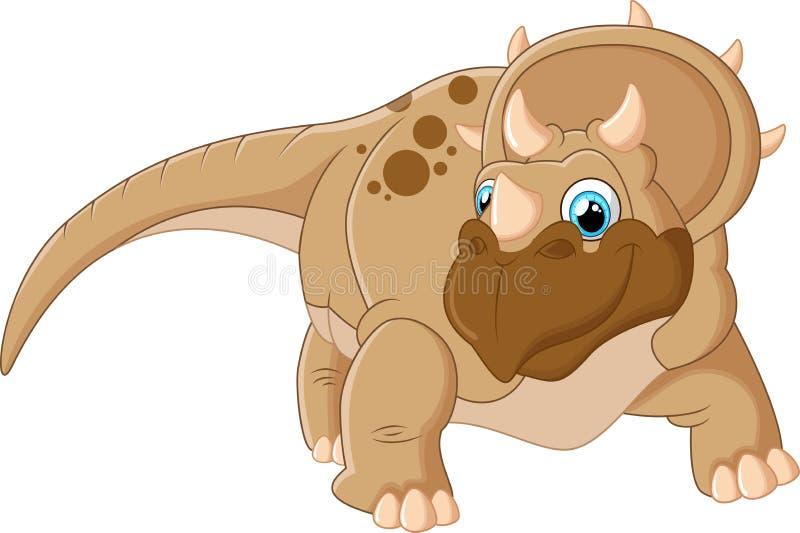 Historieta del Triceratops ilustración del vector