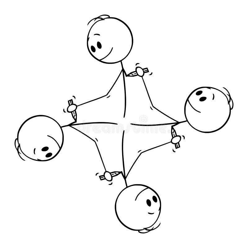 Historieta del vector del elemento gráfico circular de los hombres que se dibujan con el lápiz ilustración del vector