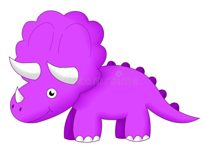 Historieta del vector del triceratops del dinosaurio libre illustration