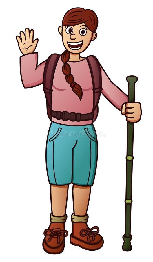Historieta del viajero de la muchacha libre illustration