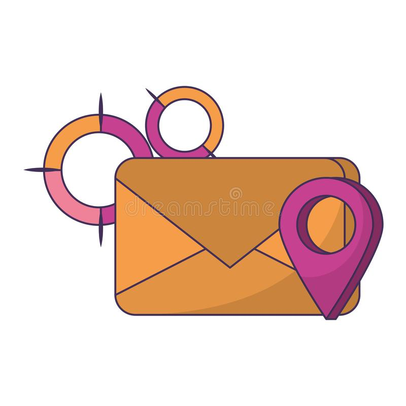 Historieta digital de la tarjeta del correo electrónico libre illustration