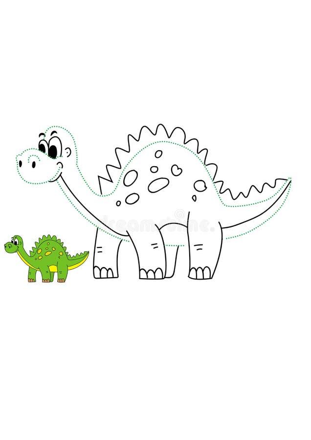 Historieta Dino Vector Illustration foto de archivo