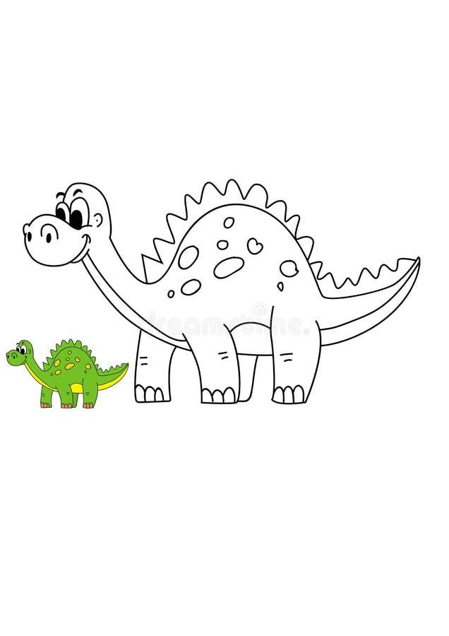 Historieta Dino Vector Illustration imagen de archivo