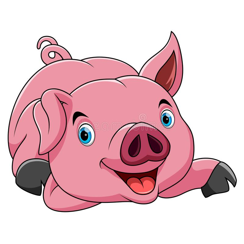 Historieta divertida del cerdo ilustración del vector