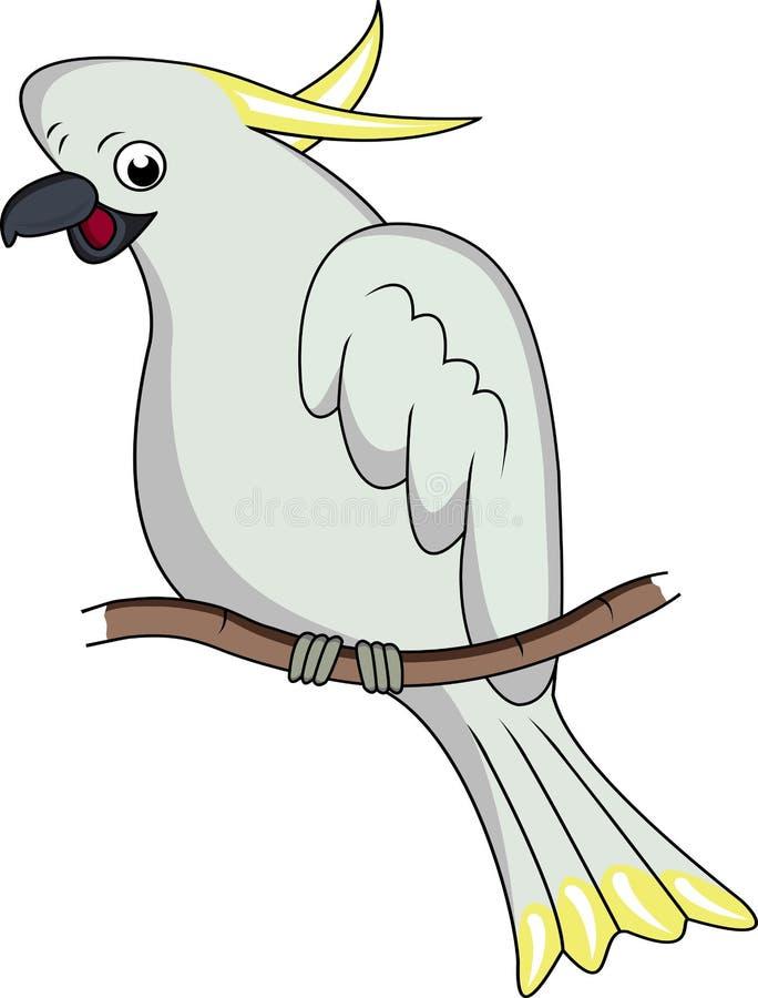 Historieta divertida del cockatoo ilustración del vector