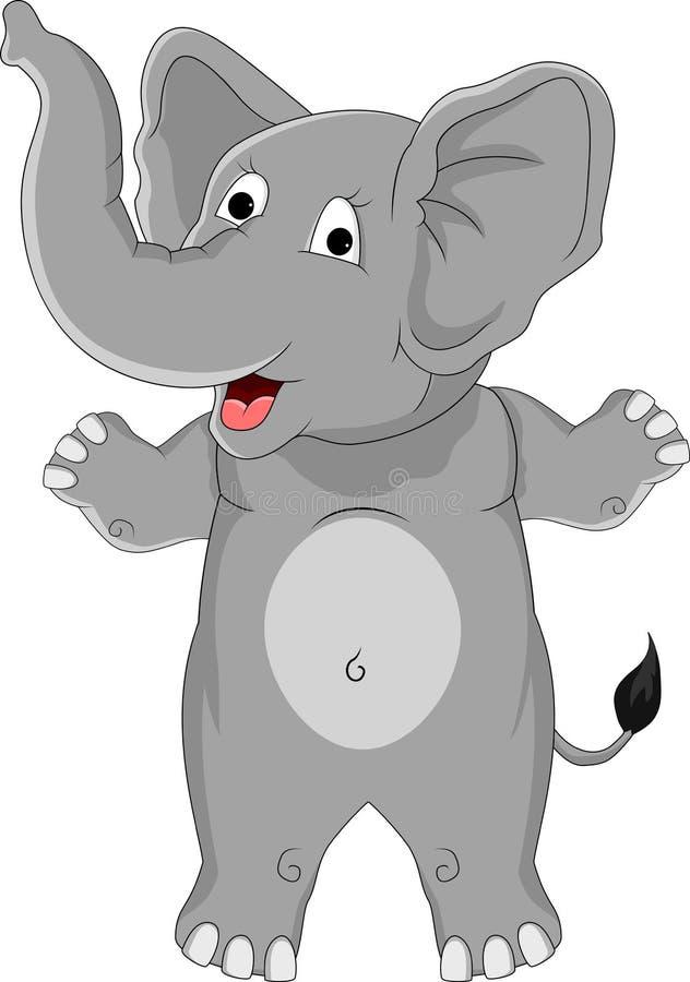Historieta Divertida Del Elefante Fotografía de archivo
