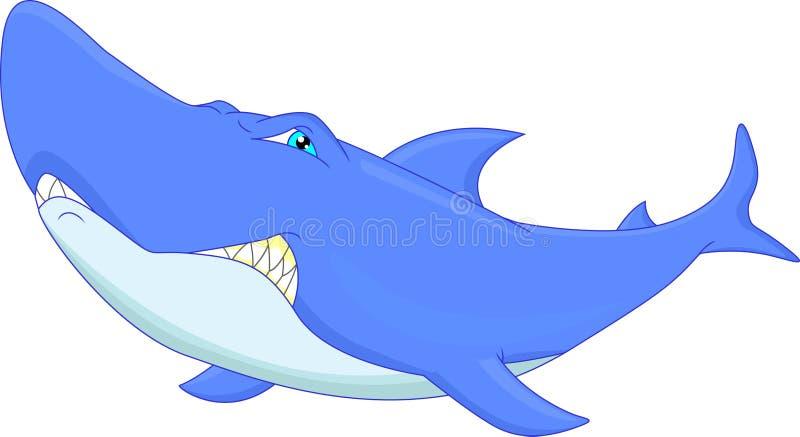 Historieta divertida del tiburón libre illustration