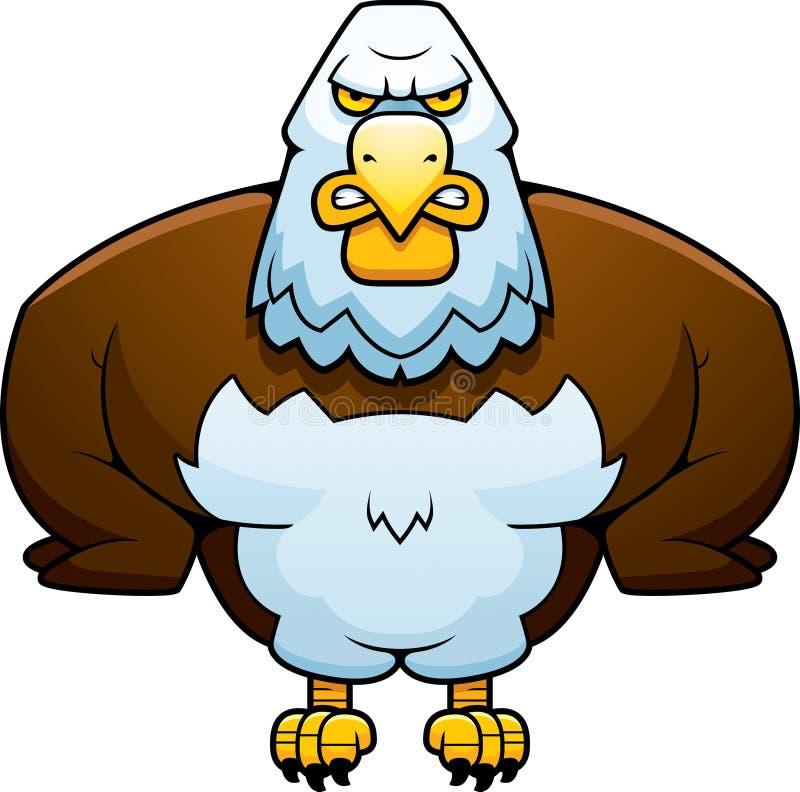 Historieta Eagle potente stock de ilustración