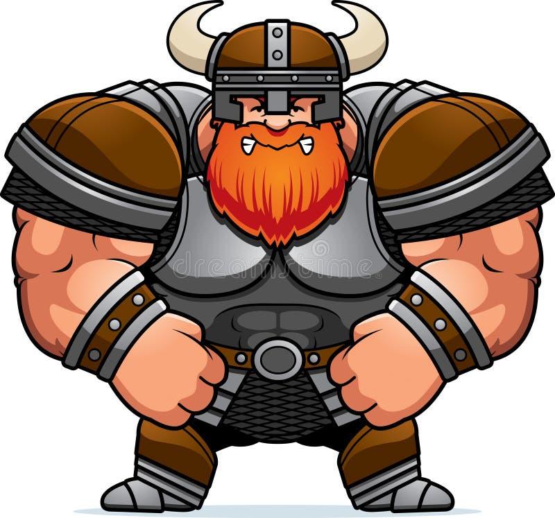 Historieta enojada Viking ilustración del vector