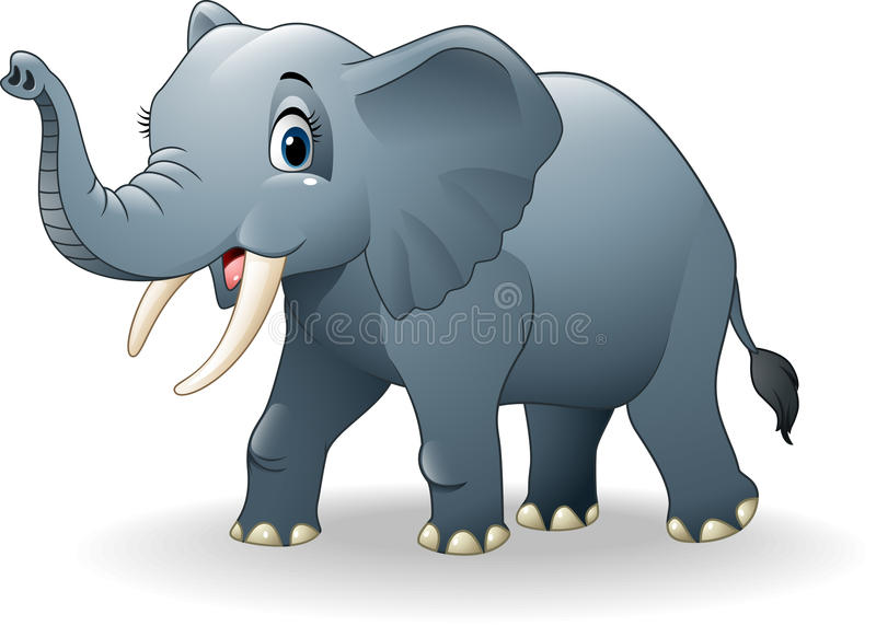 Historieta feliz del elefante libre illustration