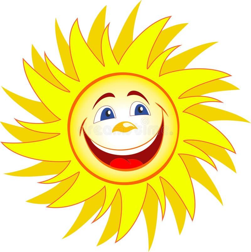 Historieta feliz del sol stock de ilustración