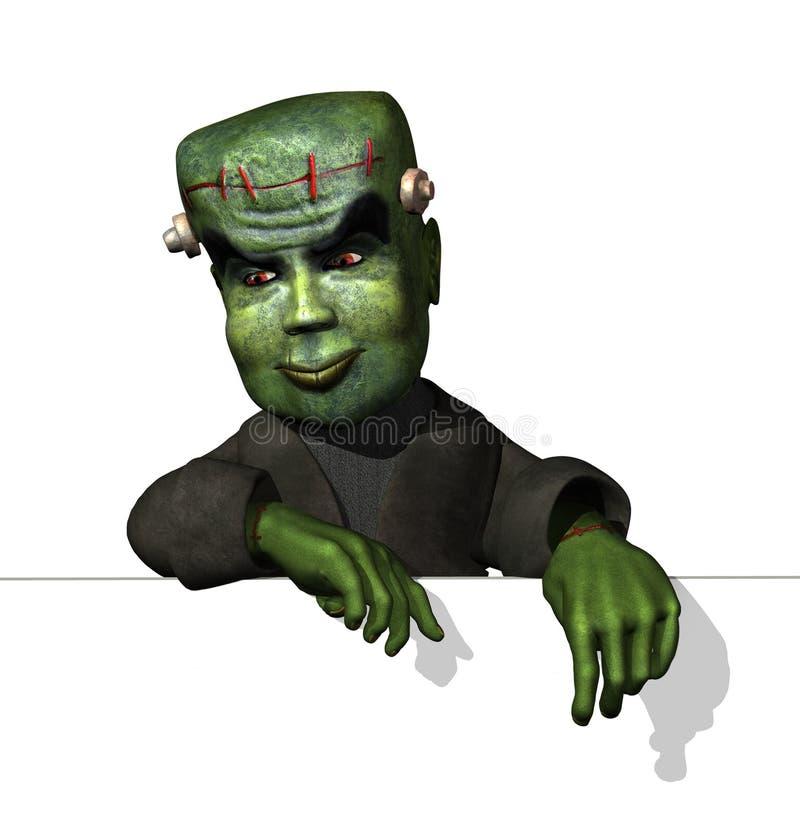 Historieta Frankenstein en el borde stock de ilustración