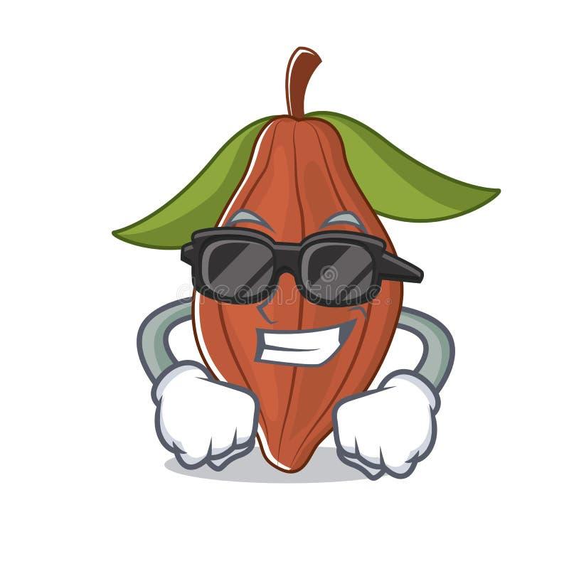Historieta fresca estupenda del carácter de la haba del cacao stock de ilustración