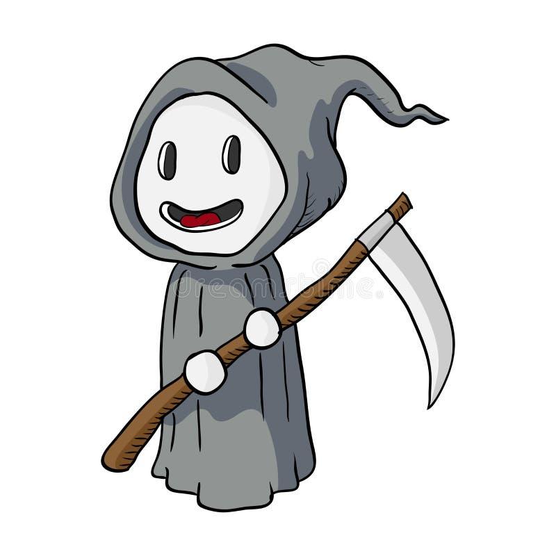 Historieta Halloween, ejemplo del Monstruo-vector de la muerte ilustración del vector