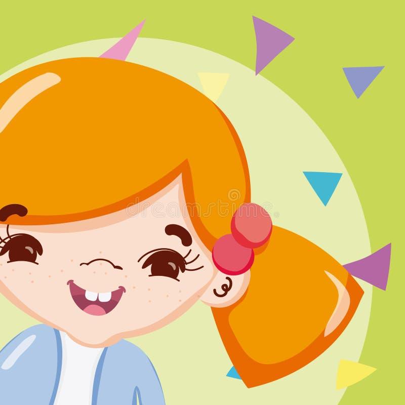 Historieta hermosa de la muchacha stock de ilustración