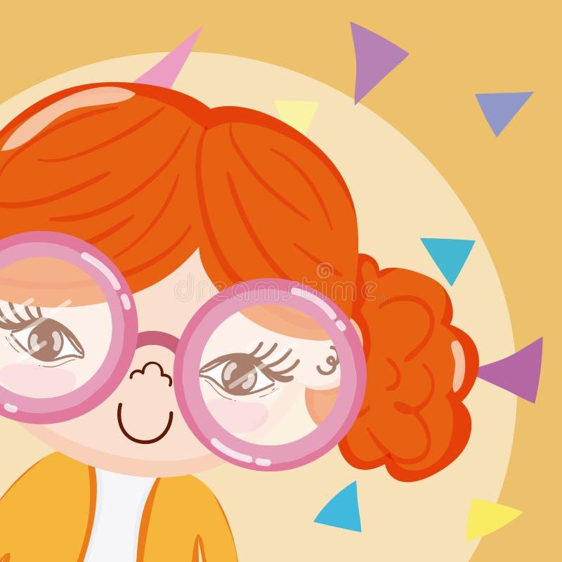 Historieta hermosa de la muchacha ilustración del vector