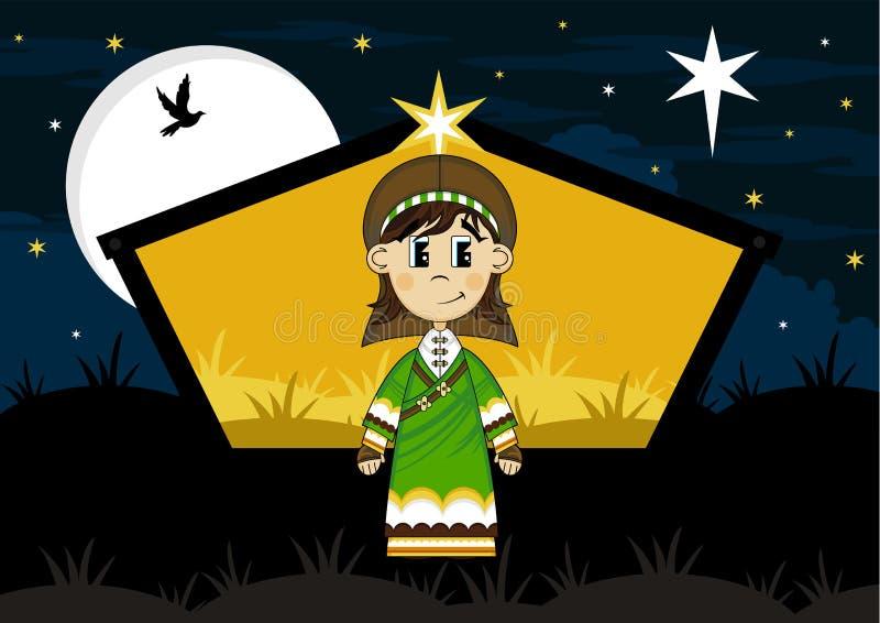 Historieta José en el granero de la natividad libre illustration