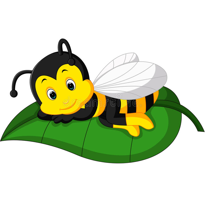 Historieta linda de la abeja libre illustration