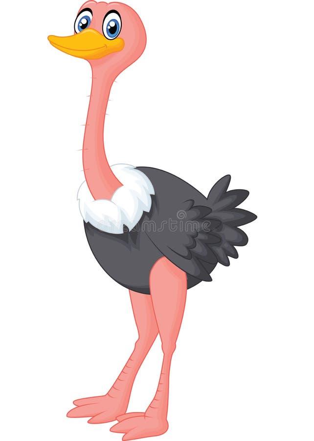 Historieta linda de la avestruz ilustración del vector