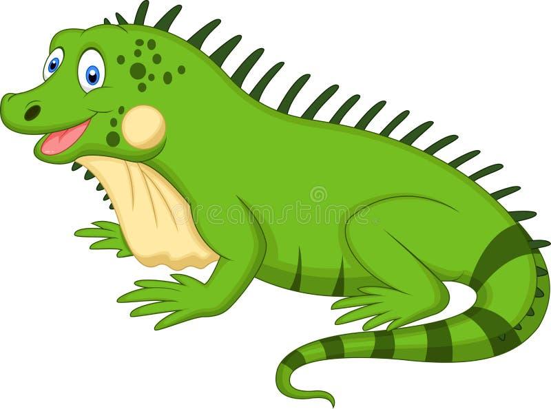 Historieta linda de la iguana ilustración del vector
