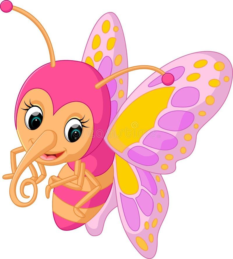 Historieta linda de la mariposa ilustración del vector