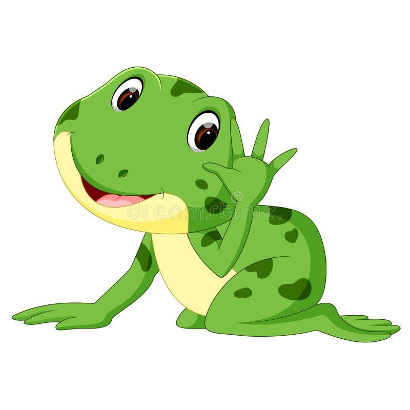 Historieta linda de la rana ilustración del vector
