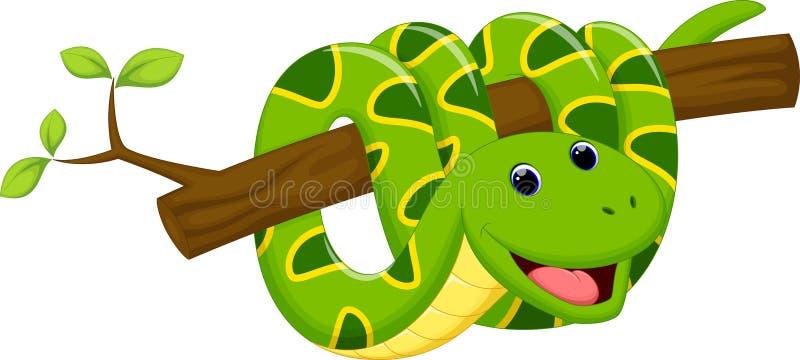 Historieta linda de la serpiente stock de ilustración