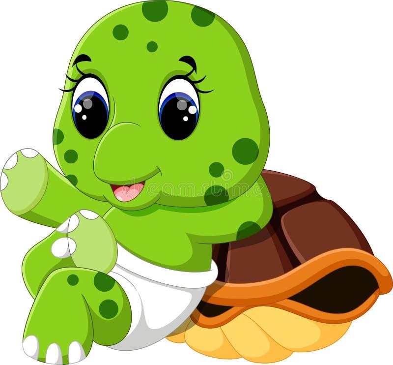 Historieta linda de la tortuga ilustración del vector