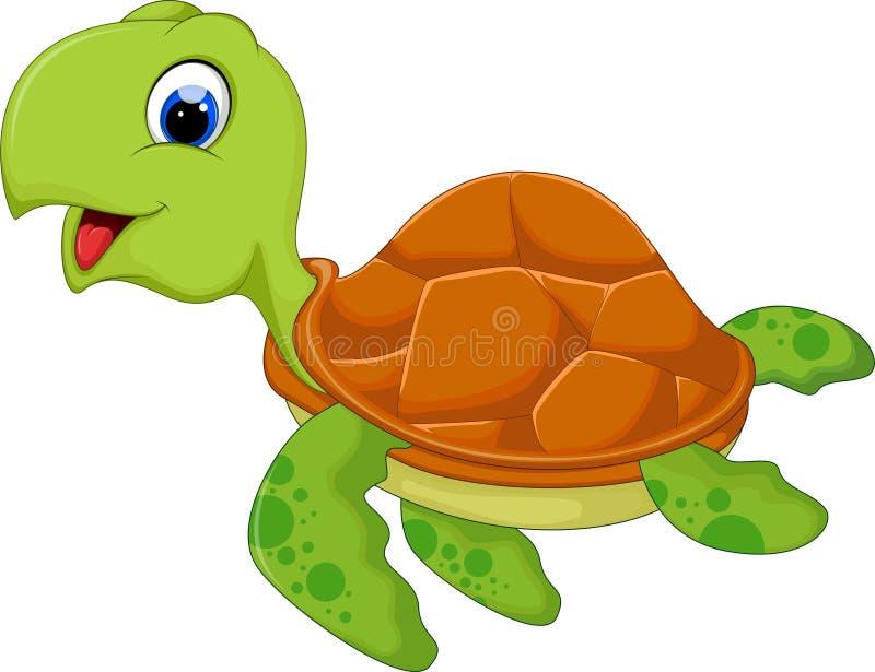 Historieta linda de la tortuga de mar libre illustration