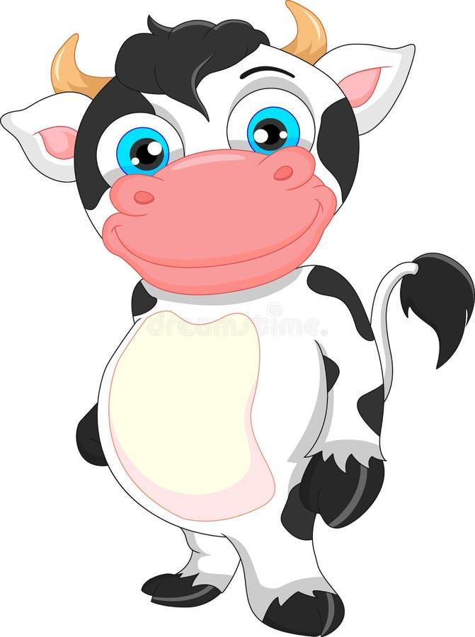 Historieta linda de la vaca del bebé ilustración del vector