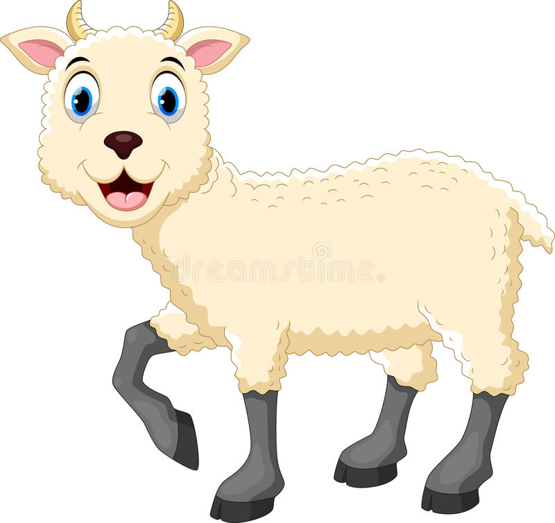 Historieta linda de las ovejas ilustración del vector