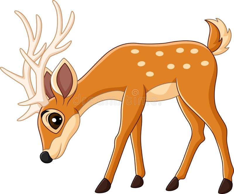 Historieta linda de los ciervos ilustración del vector