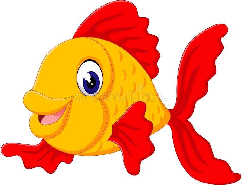 Historieta linda de los pescados stock de ilustración