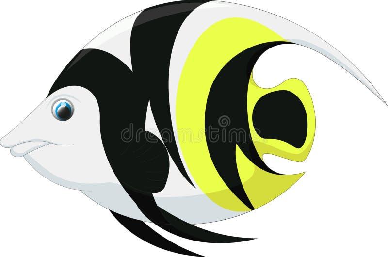 Historieta linda de los pescados del ángel stock de ilustración