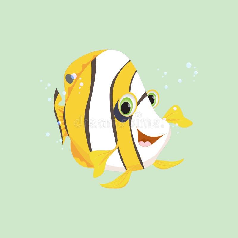 Historieta linda de los pescados del ángel ilustración del vector